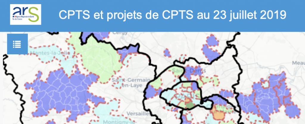 Cartographie des projets de CPTS en Ile-de-France